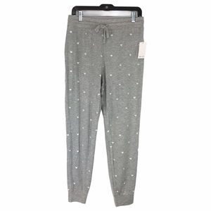 Splendid Embroidered Heart Joggers Size L